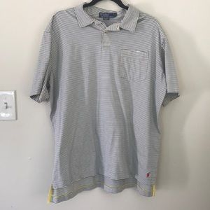 Blue and yellow striped Polo by Ralph Lauren